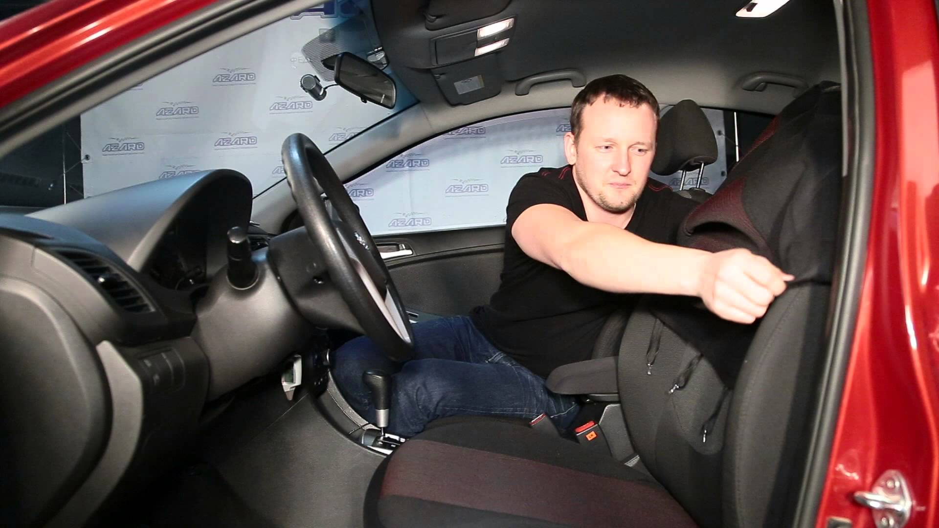 Как надеть чехлы на сиденья автомобиля?