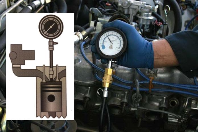 измерением компрессии в цилиндрах